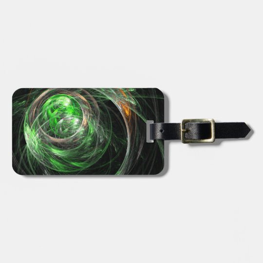 Around the World Green Abstract Art Luggage Tag