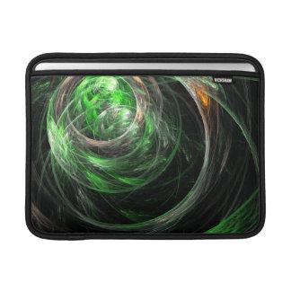 Around the World Green Abstract Art Macbook Air MacBook Sleeve