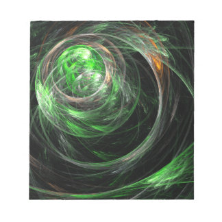 Around the World Green Abstract Art Notepad