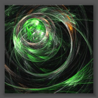 Around the World Green Abstract Art Photo Print