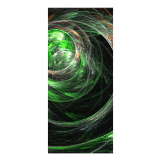 Around the World Green Abstract Art Rack Card