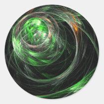 around, world, abstract, art, round, sticker, Sticker with custom graphic design