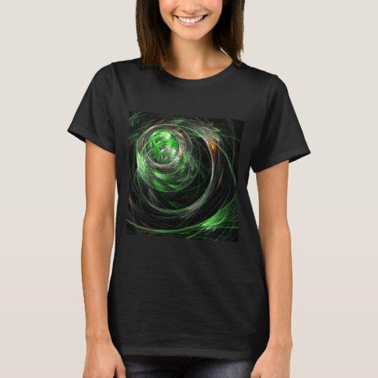 Around the World Green Abstract Art T-Shirt