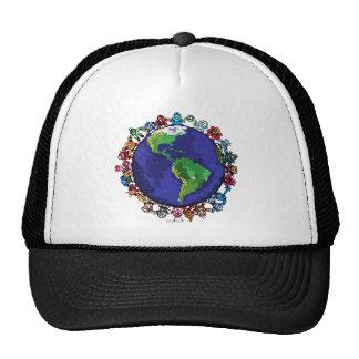 Around the World Trucker Hats