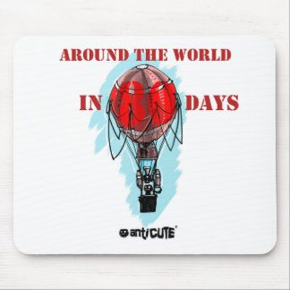 around the world in eighty day air balloon mouse pad