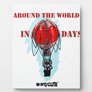 around the world in eighty day air balloon plaque