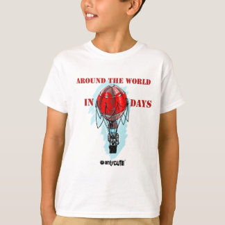 around the world in eighty day air balloon T-Shirt