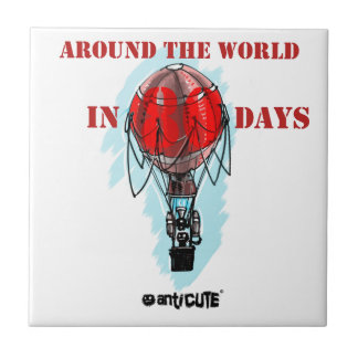 around the world in eighty day air balloon tile