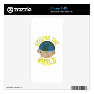 Around the World iPhone 4S Decal