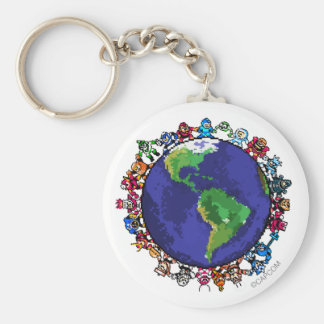 Around the World Keychain