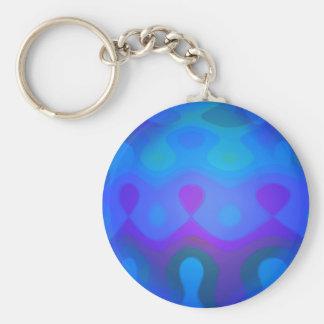 Around the World Basic Round Button Keychain