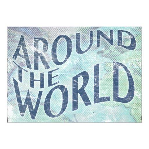 around the world : passport page card