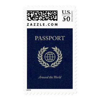 around the world : passport postage