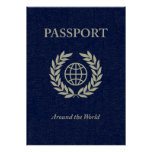 around the world : passport poster