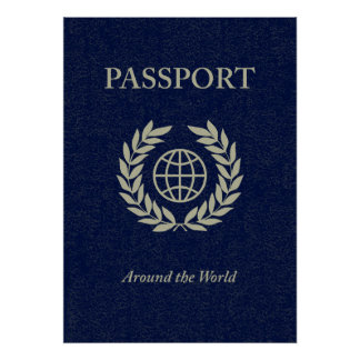 around the world : passport poster