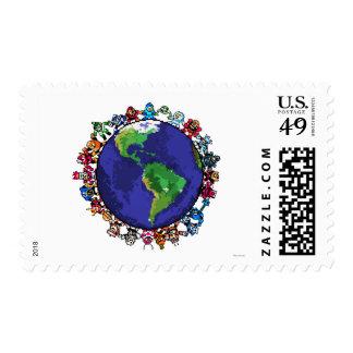Around the World Postage