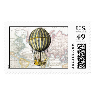 Around the World Stamp by Loralee Lewis