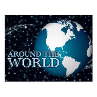 around the world : starshine postcard