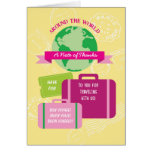 Around The World Thank You Card