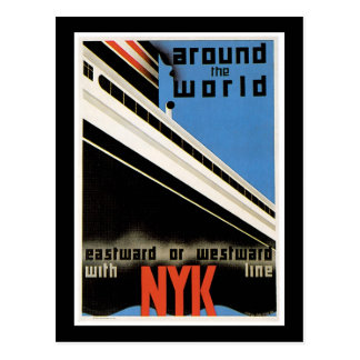 Around the World with NYK Postcard