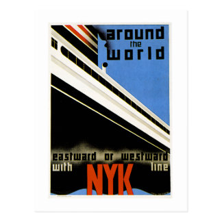 Around the World with the NYK Line Postcard