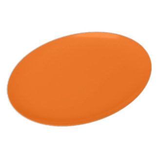Around uni orange chalkboard dinner plate