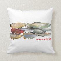 Arowana of the World Throw Pillow