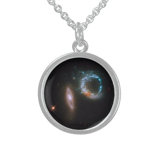 ARP 147 Galaxies Sterling Silver Necklace