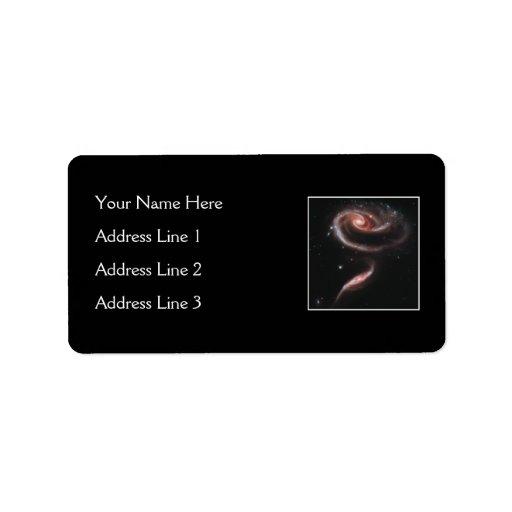 Arp 273 Galaxy Pair (Hubble Telescope) Custom Address Label