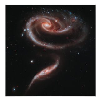 Arp 273 Interacting Galaxies (Hubble Telescope) Poster