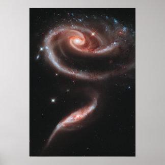 Arp 273 Interacting Galaxies (Hubble Telescope) Poster