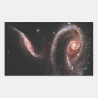 Arp 273 Interacting Galaxies (Hubble Telescope) Rectangular Sticker
