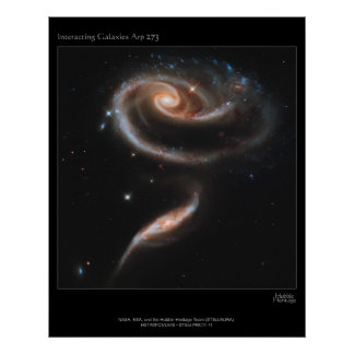 ARP-273 Interacting Galaxies Poster