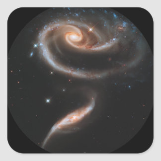 ARP-273 Interacting Galaxies Square Sticker