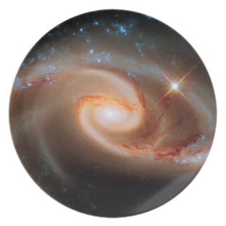 Arp 273 Rose Galaxies Hubble Outer Space Photo Melamine Plate