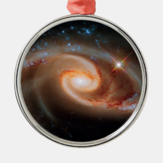 Arp 273 Rose Galaxies Hubble Outer Space Photo Metal Ornament