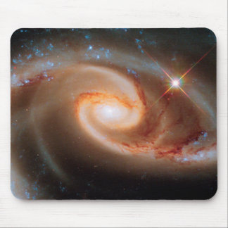 Arp 273 Rose Galaxies Hubble Outer Space Photo Mouse Pad