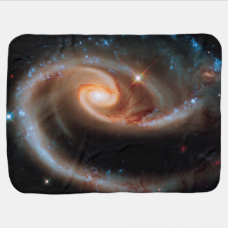 Arp 273 Rose Galaxies Hubble Outer Space Photo Stroller Blanket