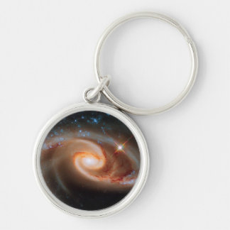 Arp 273 Rose Galaxies Silver-Colored Round Keychain