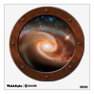 Arp 273 Rose Galaxies Steampunk Porthole Window Wall Decal