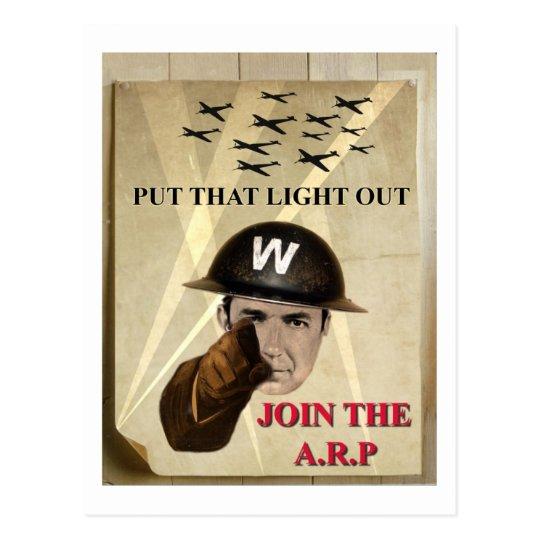 ARP Recruiting Poster Postcard