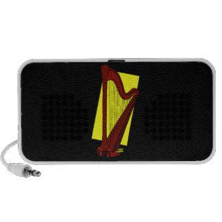Arpa Brown del pedal con el cuadrado amarillo detr iPod Altavoz