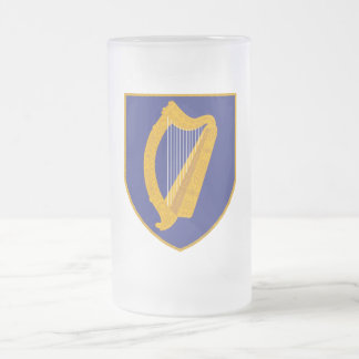 Arpa de Brian Boru - símbolo de Irlanda Taza Cristal Mate