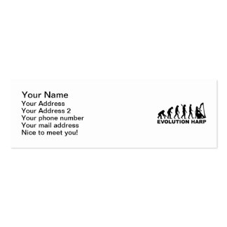 Arpa de la evolución tarjetas de visita
