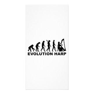 Arpa de la evolución tarjeta con foto personalizada