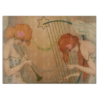 Arpa de la flauta de los músicos del ángel del tablas de cortar