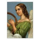 Arpa de la música del ángel del Victorian del Tarjetas