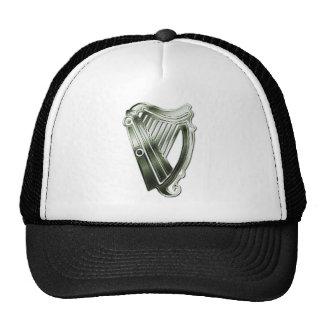 Arpa del verde del día de St Patrick del gorra de