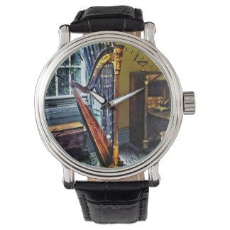 Arpa elegante relojes