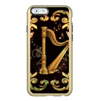 Arpa en color de oro funda para iPhone 6 plus incipio feather shine